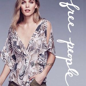 NWT Free People Amour Cold Shoulder Top